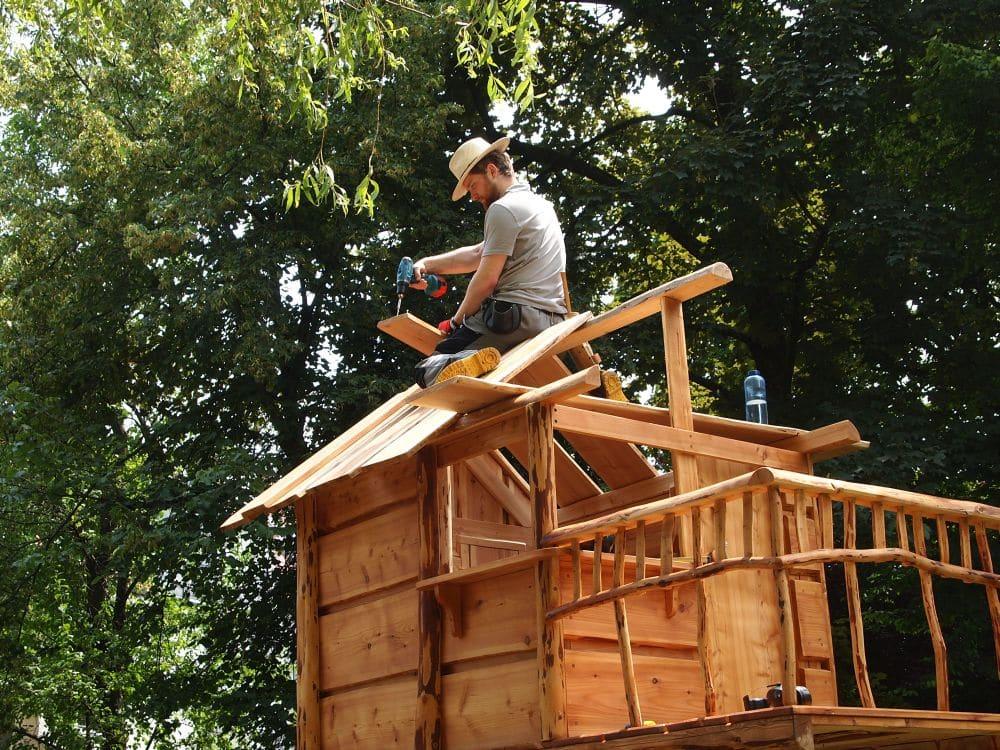 Spielhaus aufbauen